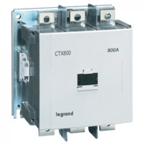 3-pole contactors CTX³ 800 - 800 A - 200-240 V~/= - 2 NO + 2 NC -screw terminals