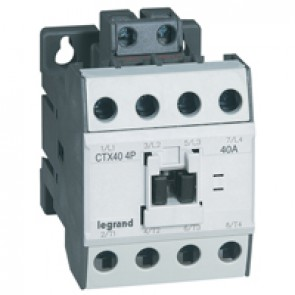 4-pole contactors CTX³ - without auxiliary contact - 60/40 A 230 V~
