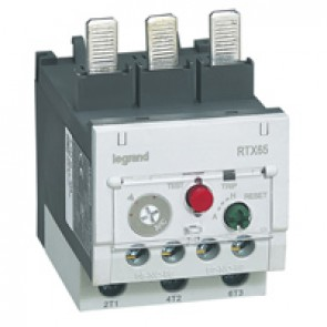 Thermal overload relay RTX³ 65 - 16 to 22 A - for CTX³ 65 - diff.