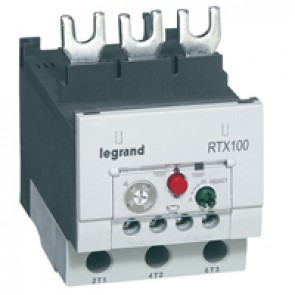 Thermal overload relay RTX³ 100 - 80 to 100 A - for CTX³ 65 - non diff.