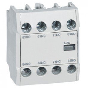 CTX³ add-on aux. contact -for CTX³ 22/40/65/100/150- 2 NO + 2 NC -Front mounting