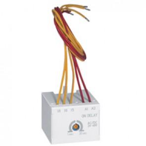 CTX³ time delay block - for CTX³ 22/40/65/100/150 - on delay - 24-48 V~/=