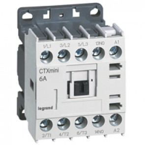 3-pole mini contactors CTX³ - 6 A (AC3) - 24 V~ - 1 NO - screw terminals