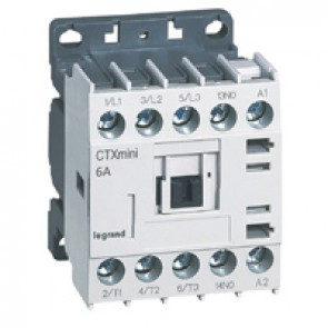 3-pole mini contactors CTX³ - 6 A (AC3) - 415 V~ - 1 NO - screw terminals
