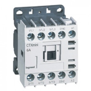3-pole mini contactors CTX³ - 6 A (AC3) - 415 V~ - 1 NC - screw terminals