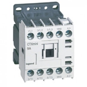 3-pole mini contactors CTX³ - 9 A (AC3) - 24 V= - 1 NO - screw terminals