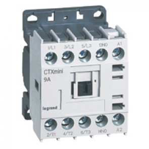 3-pole mini contactors CTX³ - 9 A (AC3) - 110 V~ - 1 NO - screw terminals