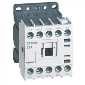 3-pole mini contactors CTX³ - 12 A (AC3) - 24 V= - 1 NO - screw terminals