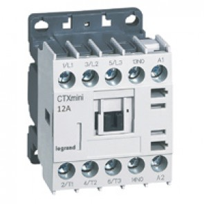 3-pole mini contactors CTX³ - 12 A (AC3) 230 V~ - 1 NO - screw terminals