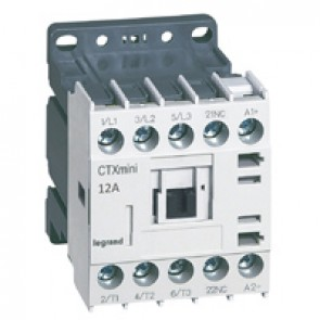 3-pole mini contactors CTX³ - 12 A (AC3) - 24 V= - 1 NC - screw terminals