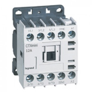 3-pole mini contactors CTX³ - 12 A (AC3) - 110 V~ - 1 NC - screw terminals