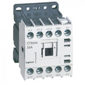 3-pole mini contactors CTX³ - 16 A (AC3) - 24 V= - 1 NO - screw terminals