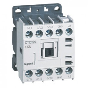 3-pole mini contactors CTX³ - 16 A (AC3) 230 V~ - 1 NO - screw terminals