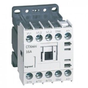 3-pole mini contactors CTX³ - 16 A (AC3) - 24 V= - 1 NC - screw terminals