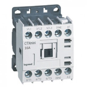 3-pole mini contactors CTX³ - 16 A (AC3) - 110 V~ - 1 NC - screw terminals