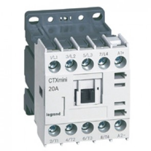 4-pole mini contactors CTX³ - 20 A - 24 V= - screw terminals