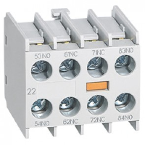 Add on auxiliary block for mini contactors CTX³ - 2 NO + 2 NC - front mounting