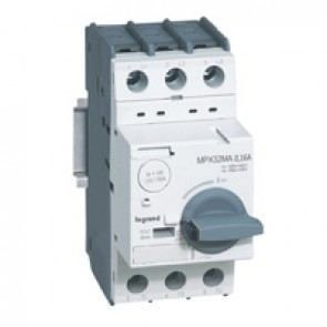 MPCB MPX³ 32 mA - magnetic - motor protection - 3P - 0.16 A - 100 kA