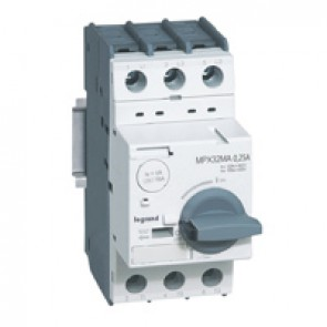 MPCB MPX³ 32 mA - magnetic - motor protection - 3P - 0.25 A - 100 kA