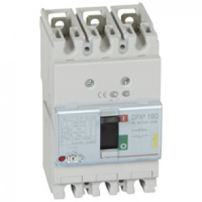 MCCB thermal magnetic - DPX³ 160 - Icu 16 kA 400 V~ - 3P - 63 A