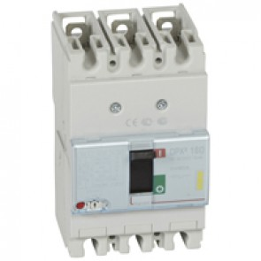 MCCB thermal magnetic - DPX³ 160 - Icu 16 kA 400 V~ - 3P - 80 A