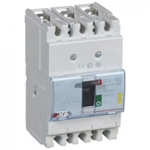 MCCB thermal magnetic - DPX³ 160 - Icu 16 kA 400 V~ - 3P - 125 A