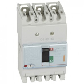 MCCB thermal magnetic - DPX³ 160 - Icu 25 kA 400 V~ - 3P - 80 A