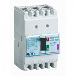 MCCB thermal magnetic - DPX³ 160 - Icu 50 kA 400 V~ - 3P - 125 A