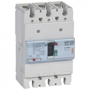 MCCB thermal magnetic - DPX³ 250 - Icu 25 kA 400 V~ - 3P - 160 A