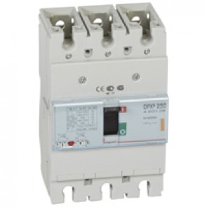 MCCB thermal magnetic - DPX³ 250 - Icu 25 kA 400 V~ - 3P - 200 A