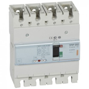 MCCB thermal magnetic - DPX³ 250 - Icu 25 kA 400 V~ - 4P - 200 A