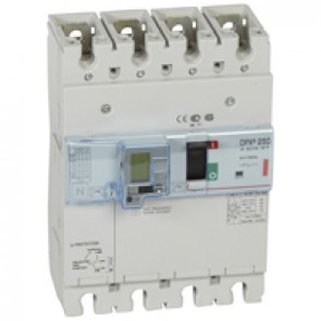 MCCB thermal magnetic with e.l.c.bs - DPX³ 250 - Icu 36 kA 400 V~ - 4P - 160 A