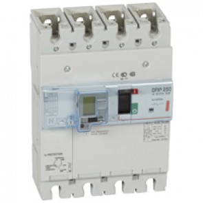 MCCB thermal magnetic with e.l.c.bs - DPX³ 250 - Icu 36 kA 400 V~ - 4P - 200 A