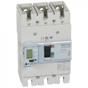 MCCB electronic release - DPX³ 250 - Icu 25 kA 400 V~ - 3P - 40 A