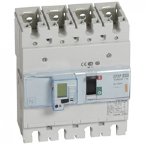 MCCB electronic release - DPX³ 250 - Icu 25 kA 400 V~ - 4P - 100 A