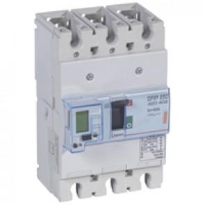 MCCB electronic + energy metering - DPX³ 250 - Icu 25 kA 400 V~ - 3P - 40 A