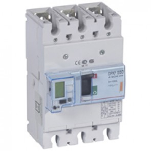 MCCB electronic + energy metering - DPX³ 250 - Icu 25 kA 400 V~ - 3P - 100 A