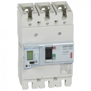 MCCB electronic + energy metering - DPX³ 250 - Icu 36 kA 400 V~ - 3P - 40 A