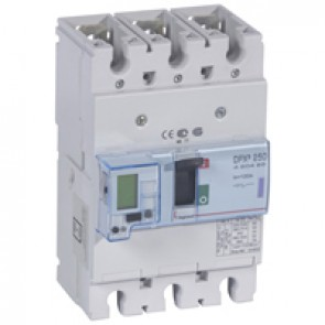 MCCB electronic + energy metering - DPX³ 250 - Icu 50 kA 400 V~ - 3P - 100 A