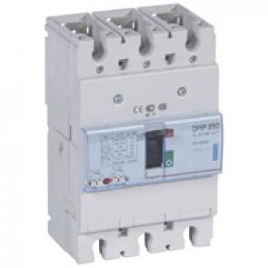 MCCB thermal magnetic - DPX³ 250 - Icu 70 kA 400 V~ - 3P - 160 A