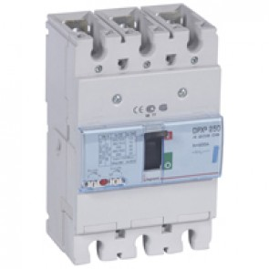 MCCB thermal magnetic - DPX³ 250 - Icu 70 kA 400 V~ - 3P - 200 A