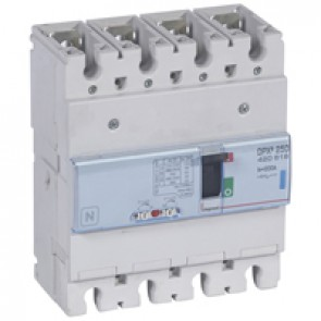 MCCB thermal magnetic - DPX³ 250 - Icu 70 kA 400 V~ - 4P - 200 A