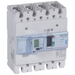 MCCB electronic release - DPX³ 250 - Icu 70 kA 400 V~ - 4P - 40 A