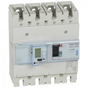 MCCB electronic release - DPX³ 250 - Icu 70 kA 400 V~ - 4P - 160 A