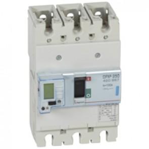 MCCB electronic + energy metering - DPX³ 250 - Icu 70 kA 400 V~ - 3P - 100 A
