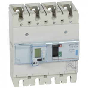 MCCB electronic + energy metering - DPX³ 250 - Icu 70 kA 400 V~ - 4P - 40 A