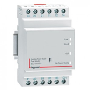 Dual power supply selector - for automatic transfer switch control units