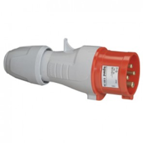 Straight plug P17 - IP44 - 380/415 V~ - 16 A - 3P+E