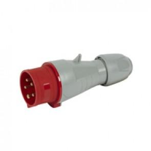 Straight plug P17 - IP44 - 380/415 V~ - 16 A - 3P+N+E