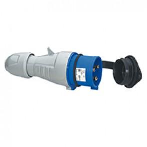 Straight plug P17 - IP44 - 200/250 V~ - 16 A - 2P+E